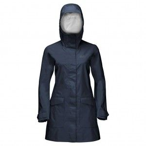 Crosstown Raincoat Women - Midnight Blue