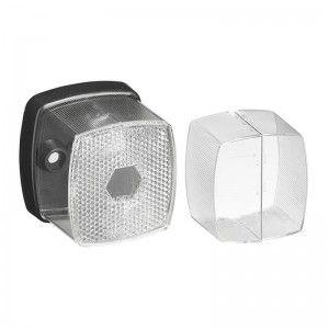 Markeringslamp wit 66x62mm met reflector in blister