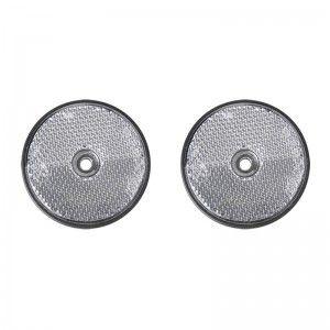 Reflector wit 60mm schroefbevestiging 2 stuks in blister