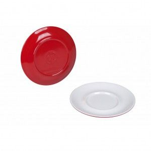 Schotel - 100% Melamine - Ø 13 cm - Two-Tone rood