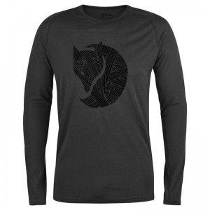 Fjällräven Abisko Trail T-Shirt Print LS Dark Grey