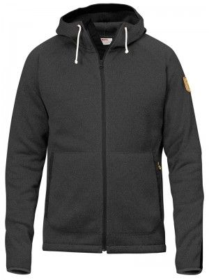 Fjallraven Ovik Fleece Hoodie Dark Grey