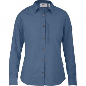 Abisko Hike Shirt LS W - 519 - Blue Ridge