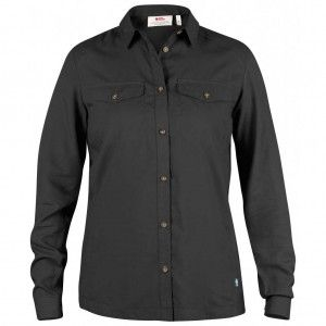 Abisko Vent Shirt LS W - 030 Dark Grey