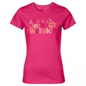 Jack Wolfskin BRAND T W - Pink Rasperry #1804391-2045