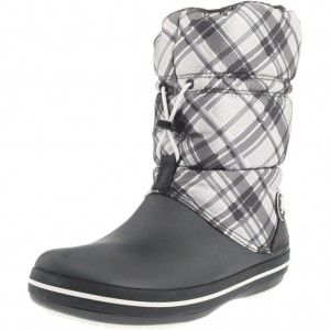 Crocband Plaid Winter Boot Graphite/Oyster