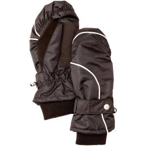 Women's Frisked Mitt Gloves - Black
