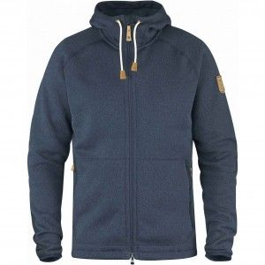 Fjallraven Ovik Fleece Hoodie Heren 560 - Navy