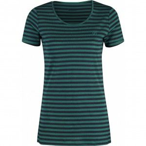 Fjallraven High Coast Stripe T-Shirt W - 647 Copper Green