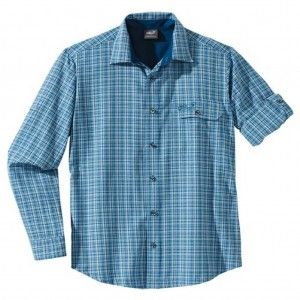Jack Wolfskin LODGEPOLE SHIRT MEN electric blue checks