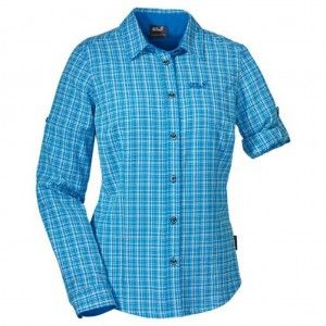 ack Wolfskin Lodgepole Shirt Women Briliant Blue checks