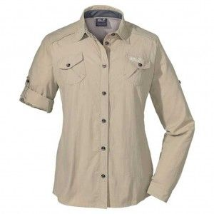 Jack Wolfskin MOSQUITO SAFARI SHIRT Women pure sands