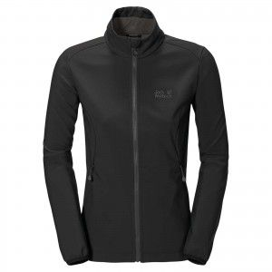 Jack Wolfskin ELEMENT SOFTSHELL JKT W - Black #1302902-6000