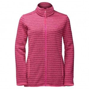 Caribou Striped Jacket Women - Hot Pink