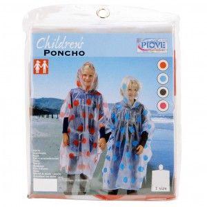 Poncho met stippen voor kinderen