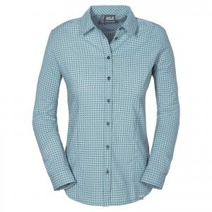 Jack Wolfskin KIRIBATI SHIRT W - North Atlantic Checks #1402041-7637