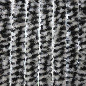 Vliegengordijn Kattenstaart Zwart - Wit