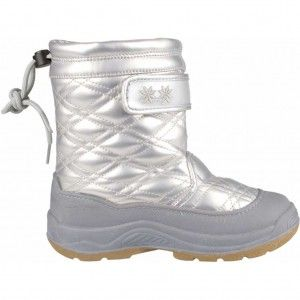 Winter-Grip Snowboots Junior Quilt Zilver-Grijs