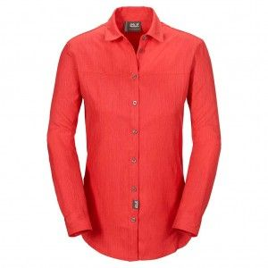 Jack Wolfskin Yasur Shirt LS W - Hot Coral