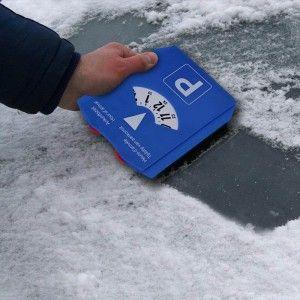 Parkeerschijf NL/D/F/GB met ijskrabber & winkelwagenmuntjes