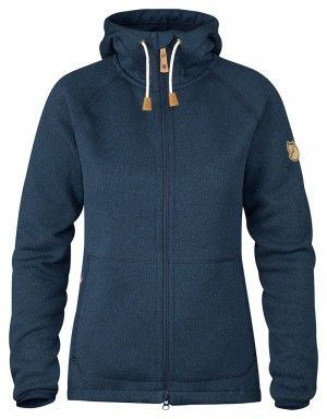 Fjallraven Dames Fleece Hoodie Navy F89516