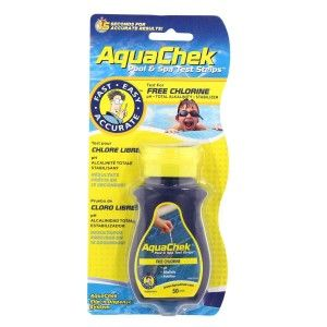 AquaChek Yellow 4-in-1 Pool & Spa Test Strips 50 stuks