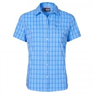 CENTAURA STRETCH VENT SHIRT W - Air Blue Checks #1401622-7557