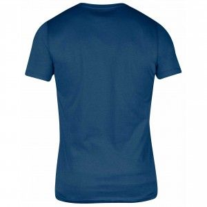Fjallraven Logo T-Shirt - 520 - Uncle Blue - back
