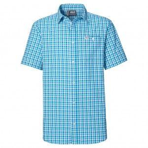 Flaming Vent Shirt M - Turquoise Checks