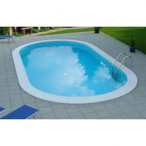 Inbouwzwembad SET Ovaal 150 cm diep