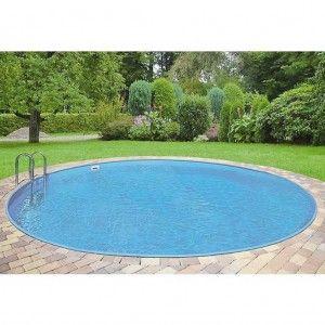 Inbouwzwembad Rond SET Clever Pool 120 cm diep