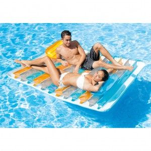 Intex Lucht/Waterbed Double Lounge Mat
