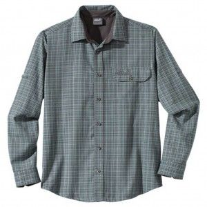 Jack Wolfskin LODGEPOLE SHIRT MEN Tarmec grey checks