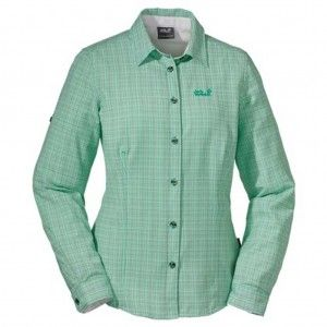 ack Wolfskin Lodgepole Shirt Women Brilliant mint green checks