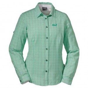 ack Wolfskin Lodgepole Shirt Women Brilliant mint green checks
