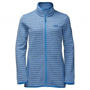 Caribou Striped Jacket Women - Cool Water