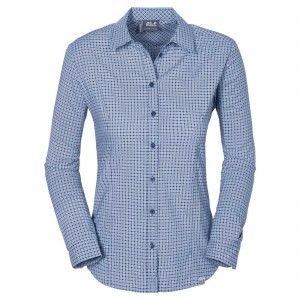 Jack Wolfskin KIRIBATI SHIRT W - Blue Indigo Checks #1402041-7868