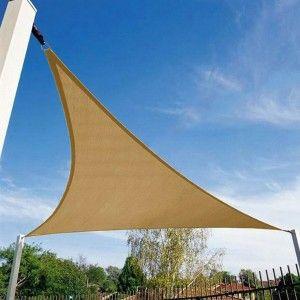 Schaduwdoek Driehoek 5 x 5 x 5 m Beige