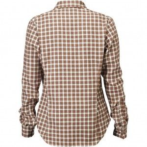 Stina Flannel Shirt W - 372 Rust
