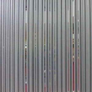Vliegengordijn PVC 90 x 220 cm Strippen Tris Antraciet/Grijs