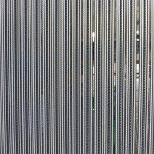 Vliegengordijn PVC Tris Strippen Antraciet / Grijs