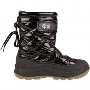 Winter-Grip Snowboots Junior Quilt Zwart