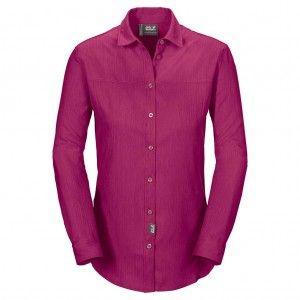 Jack Wolfskin Yasur Shirt LS W - Fuchsia