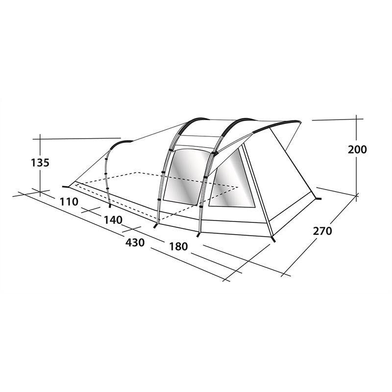 Outwell Woodville 3 tent 110777 afmetingen