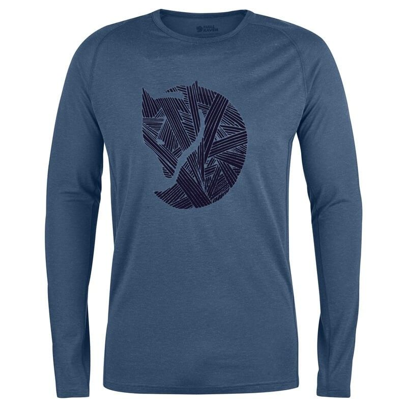 Fjällräven Abisko Trail T-Shirt Print LS Uncle Blue