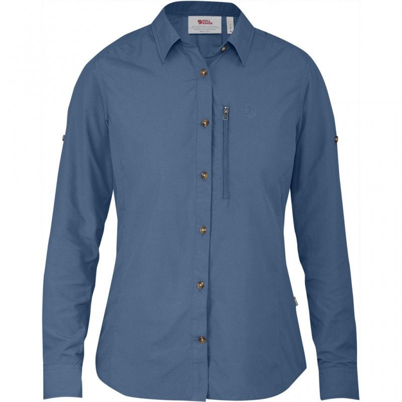 Abisko Hike Shirt LS W - 519 - Blue Ridge