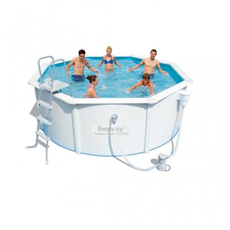 bestway poseidon pool set 366x122 zwembad kopen. Black Bedroom Furniture Sets. Home Design Ideas