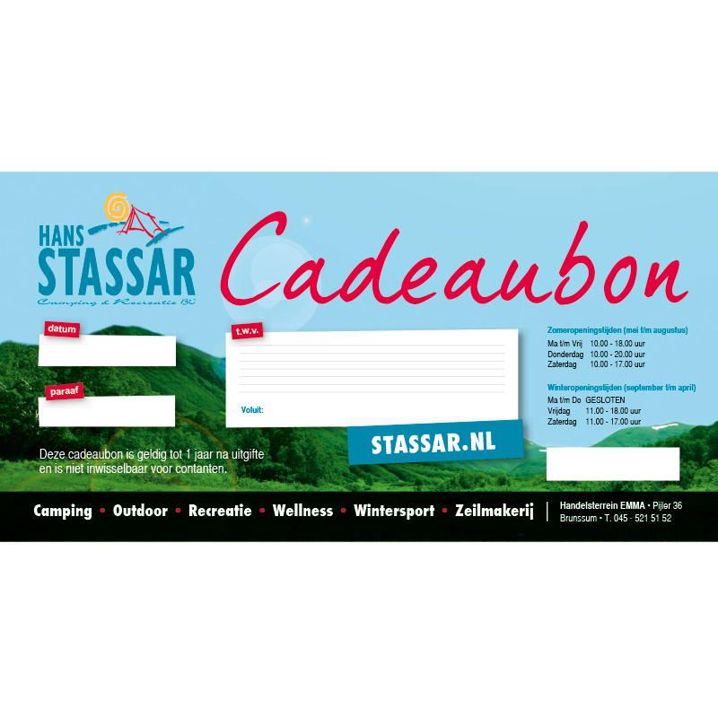 Cadeaubon Hans Stassar