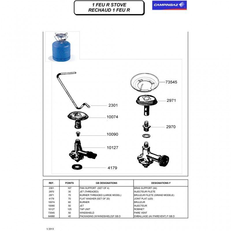 Campingaz 2301 Pan Support Set van 4