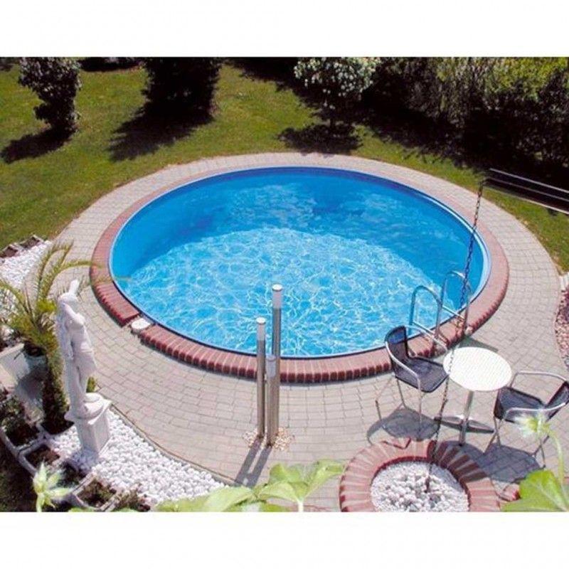 Inbouwzwembad rond clever pool 150 cm diep for Zwembad inbouw